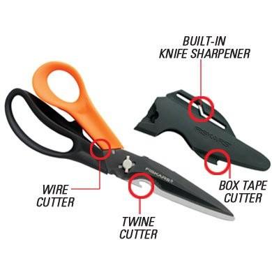 Features of the Fiskars Cuts+More™ Scissors