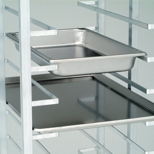 Designed to hold platters or steam pans.
