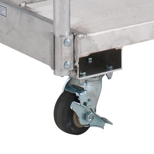 "4"" x 2"" wheels on 2-locking and 2-swivel casters."