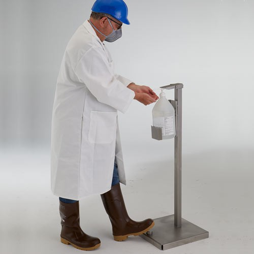 Easily eliminate cross-contamination with a hands-free station.