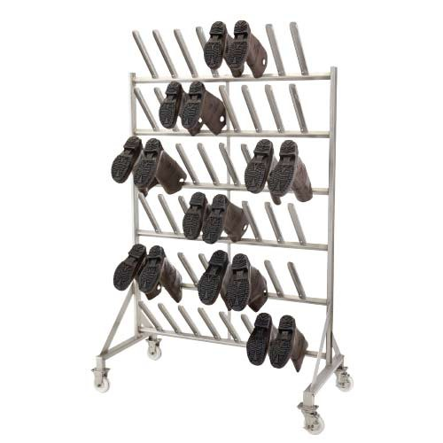 Stainless Steel Mobile Boot Drying Rack