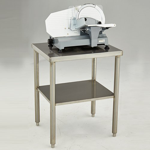 Compact-sized table can be used for small kitchen equipment (sold separately).