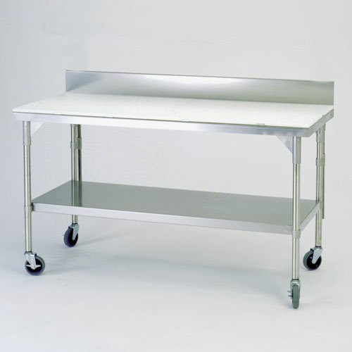 Full Stainless Top with Lower Shelf Kit, Backsplash, and Casters