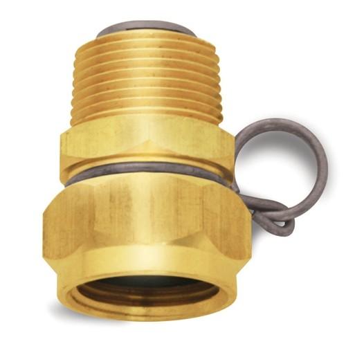 Brass Swivel Adaptor: 3/4'' GHT, 3/4'' GHT