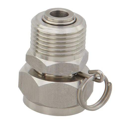 Stainless Steel Swivel Adapter: 3/4'' GHT, 3/4'' GHT