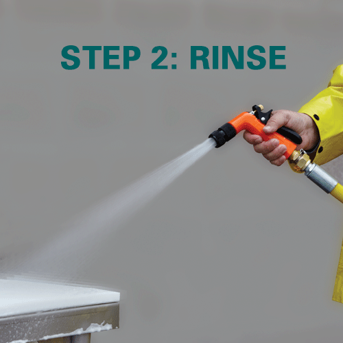 Step 2: Rinse the area thoroughly.