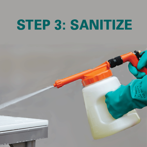 Step 3: Sanitize the area.