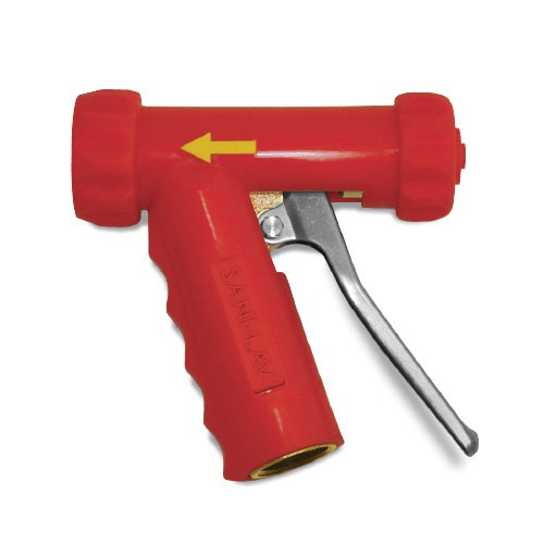 Red Mid-Size Hot Water Nozzle