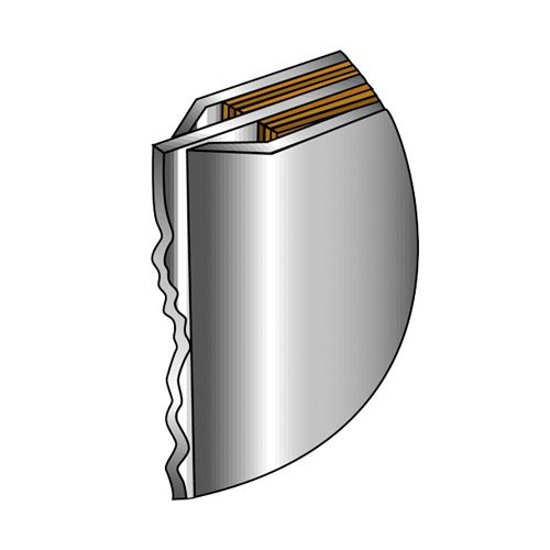 Leading edge is formed in a diamond for vertical panel stiffness and edge protection.