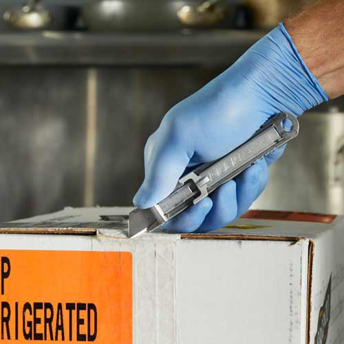The SK-14 safety knife gets the job done quickly, easily and safely.