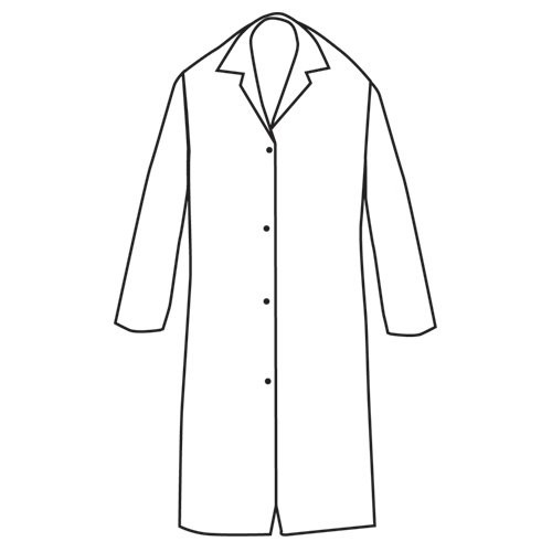 7-oz. Snap-Front Butcher Frock with no pockets.