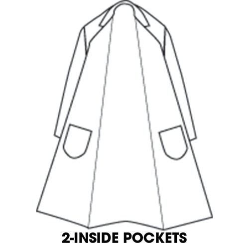 7-oz. Snap-Front Butcher Frock with 2 Inside Pockets