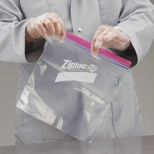 ZipLocs feature 'grip strips' for easy handling with wet or greasy hands.