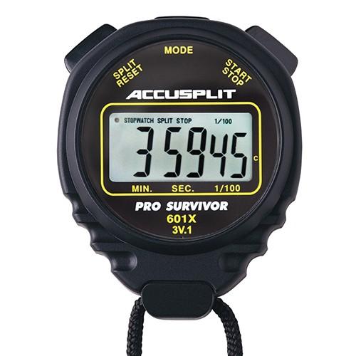 Black Pro-Survivor Water-Resistant Stopwatch