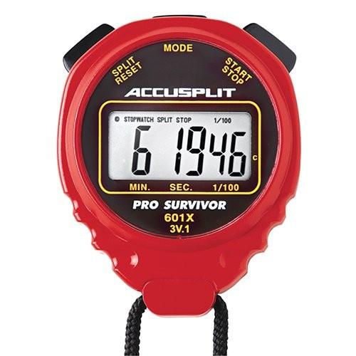 Red Pro-Survivor Water-Resistant Stopwatch