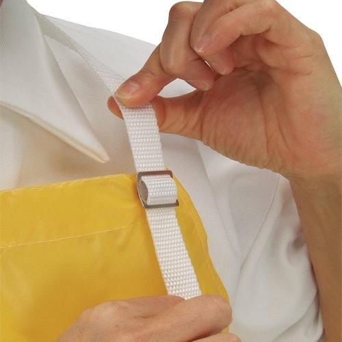 Snap-on cloth neckstrap adjusts easily.