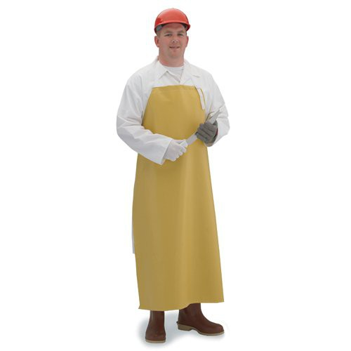 Yellow chemical-resistant neoprene apron.