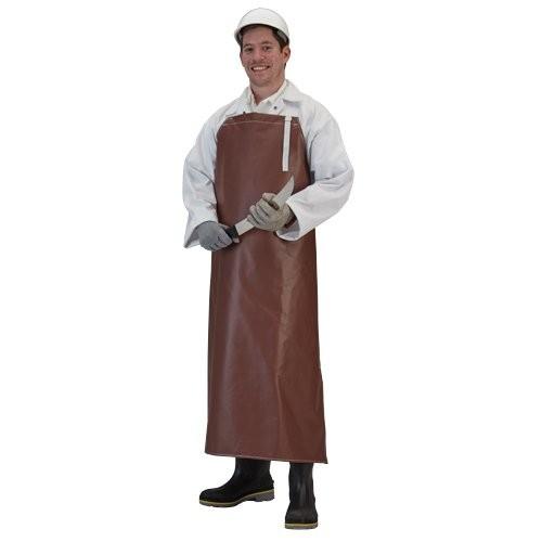 Maroon chemical-resistant neoprene apron.