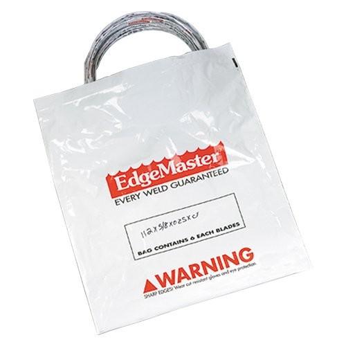 Ziploc poly bags keeps blades dry.