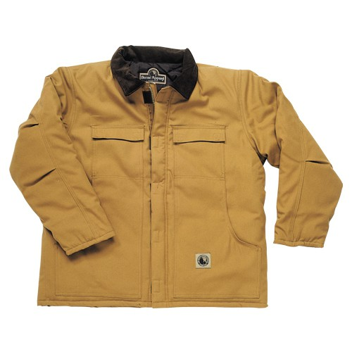 Insulated brown chore coat.