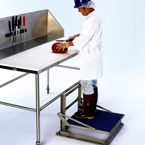 Ergo2000 stand is ideal for a comfortable anti-slip surface.