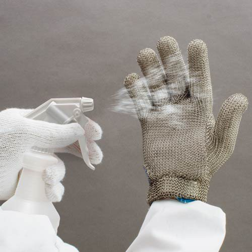 Sanitizes gloves and footwear in 10 seconds!