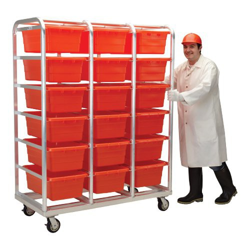 Welded Aluminum Tote Dolly makes moving product an easy task.