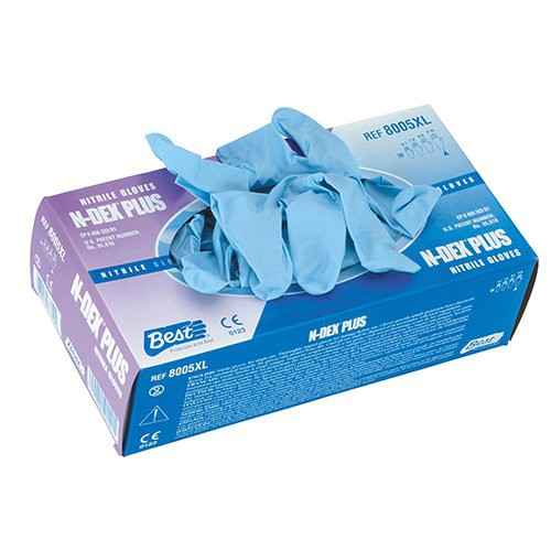 SHOWA N-DEX 8005 8-mil. Nitrile Disposable Gloves Box