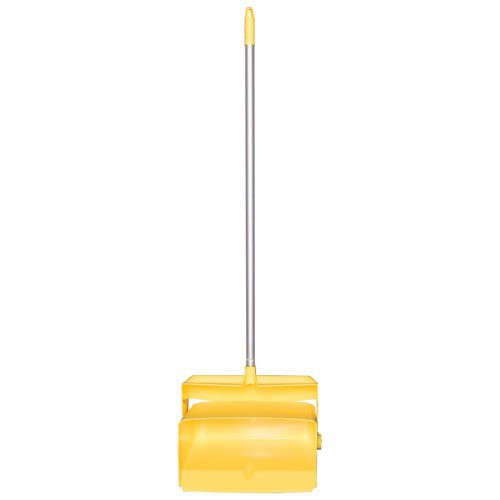 Yellow, Lobby Dust Pan and Broom