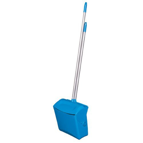 Quickly store the accompanying broom in the fitted capture located in the dustpan lid.
