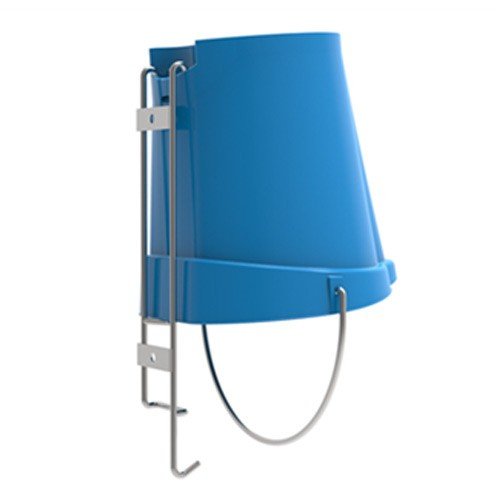 Bracket allows for pail to be stored upside down for easy draining and drying. Pail sold separately.