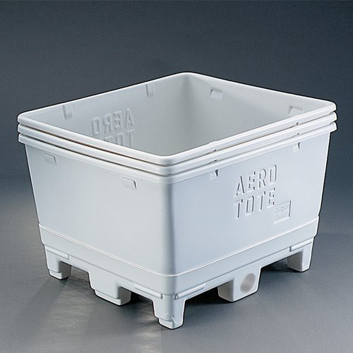 Aero-Tote Containers are designed to be nested when not in use.