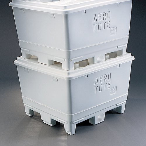 Aero-Tote Containers are designed to be stacked.