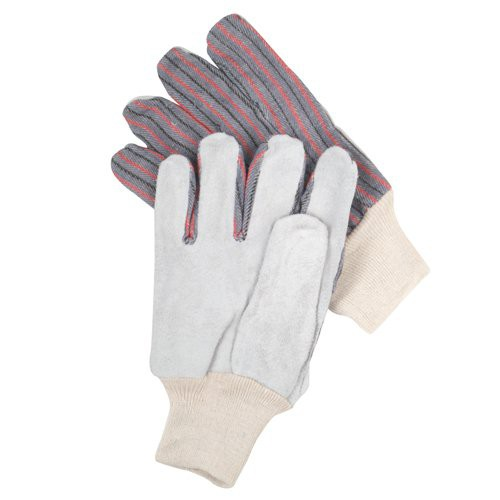 Leather Palm Industrial Work Gloves with Knit Cuff