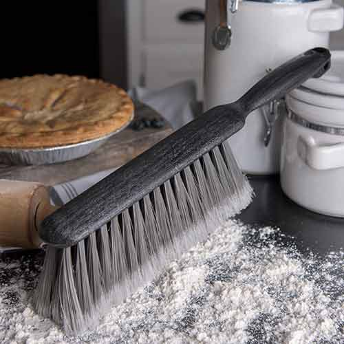 Flagged Polypropylene Bristles are ideal for fine particles, such as flour, on smooth surfaces.