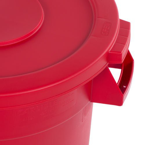 Reinforced lids have snap down tab locks with a simple press and pull release system.