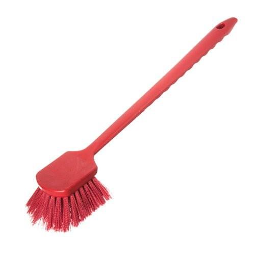 Red 20-Inch Sparta Utility Scrub Brush
