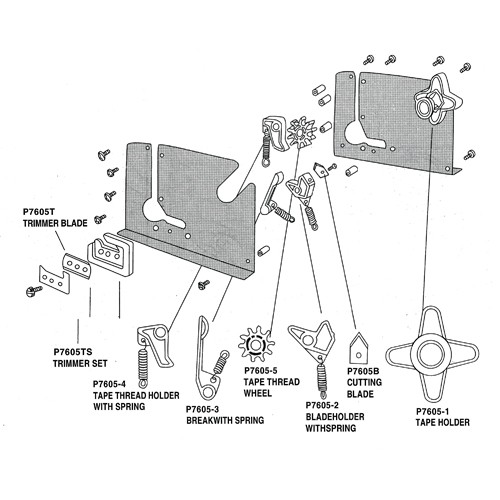 Stainless Bag Taping Machine Replacement Parts