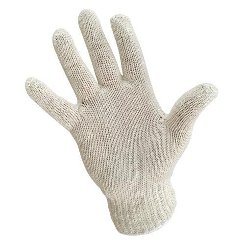 Light Weight Knit Glove with White Wrist Cuff Edge.