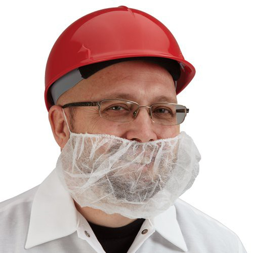 Beard Guards are a must for workers with facial hair.