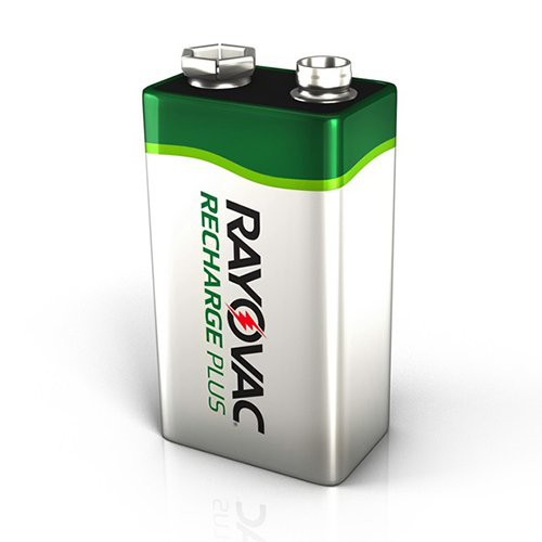 9 Volt Rayovac Recharge Plus Battery