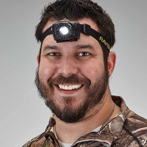 Multi-Use 80 Water-Resistant Lumen Headlight is ideal for use during game season.