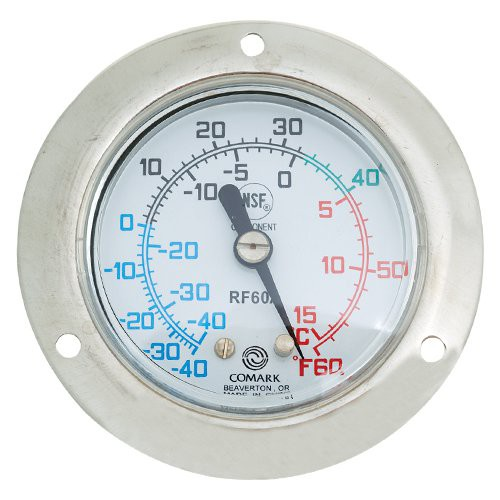 Front flange mount vapor tension thermometer bunzl for Koch thermometer