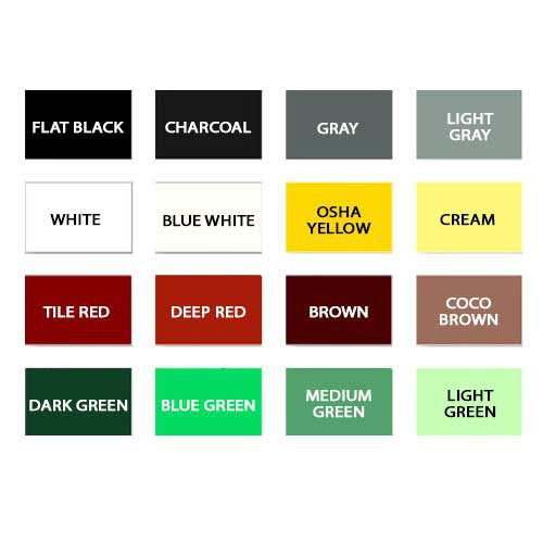 Dura Seal Color Options