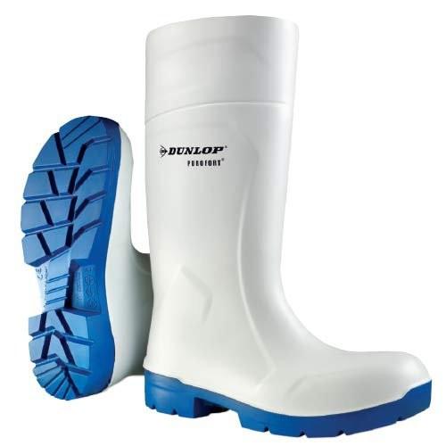 "White Dunlop Purofort 14"" FoodPro Boots"