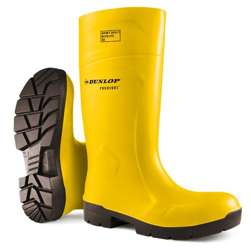 "Yellow Dunlop Purofort 14"" FoodPro Boots"