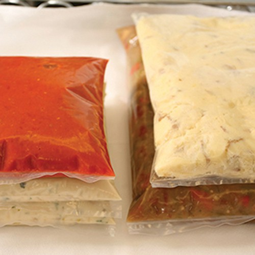 Sealed Cook Chill Bags with food product