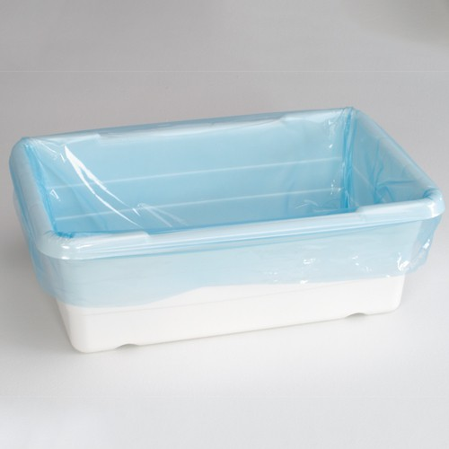 Blue, 1.5-Mil. poly tote liner. Tote liners make cleaning up an easy task!