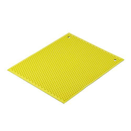 Yellow Knobby Rubber Mat