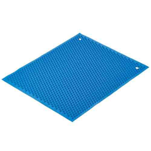 Blue Knobby Rubber Mat